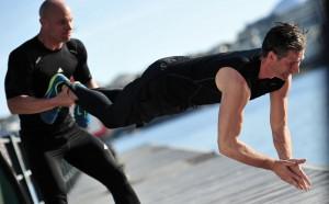 Fysisk traning-textbild